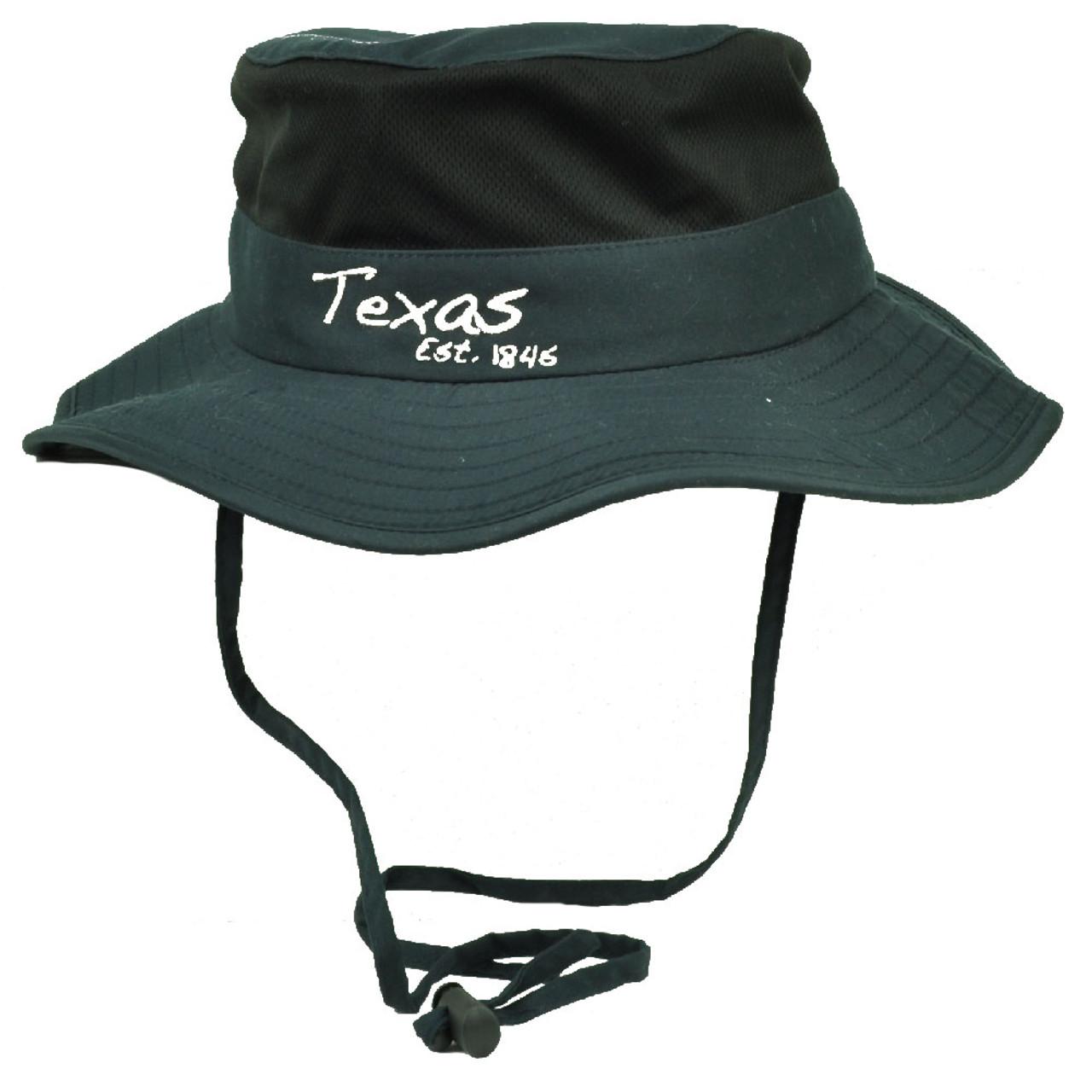 6c18011d7d2fae Texas State Navy Blue Booney Sun bucket Hat Chin Strap Mesh Band Outdoors  USA - Cap Store Online.com