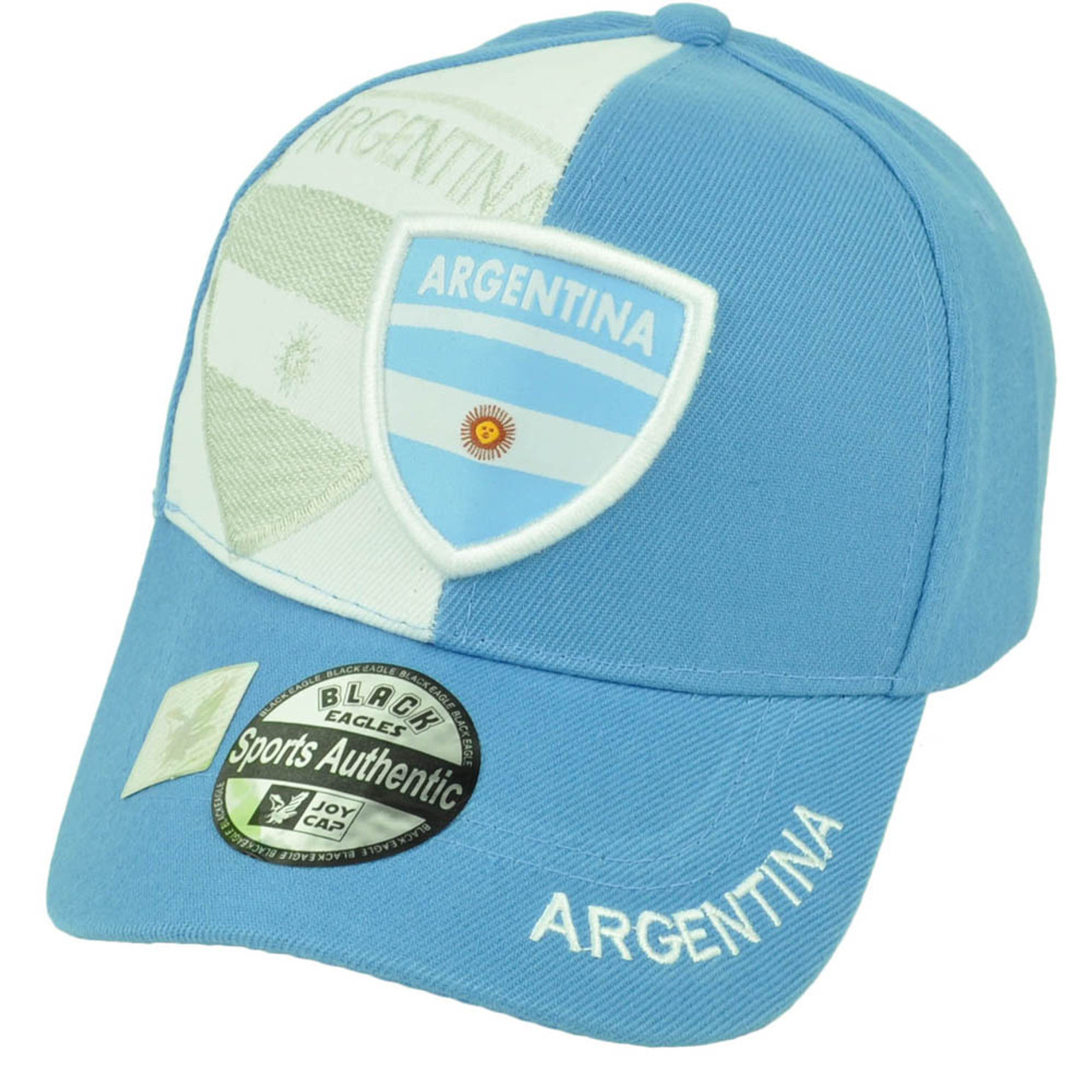 4b78314c53b Argentina Flag Baby Blue White Hat Cap Country Adjustable Argentine Curved  Bill - Cap Store Online.com