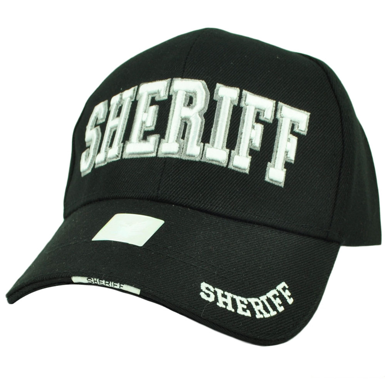 0e8179fc2e9 Sheriff County Deputy Police Law Enforcement Hat Cap Black Curved Bill  Adjustable - Cap Store Online.com