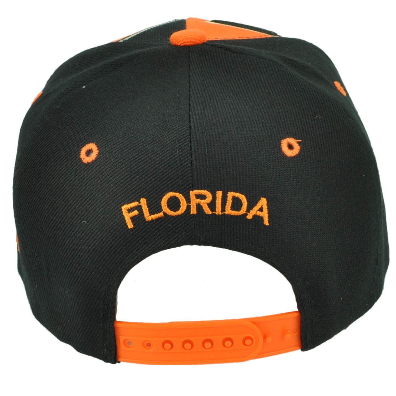 Florida FL Sunshine State Navy Blue Snapback Flat Bill Hat Cap USA Adjustable