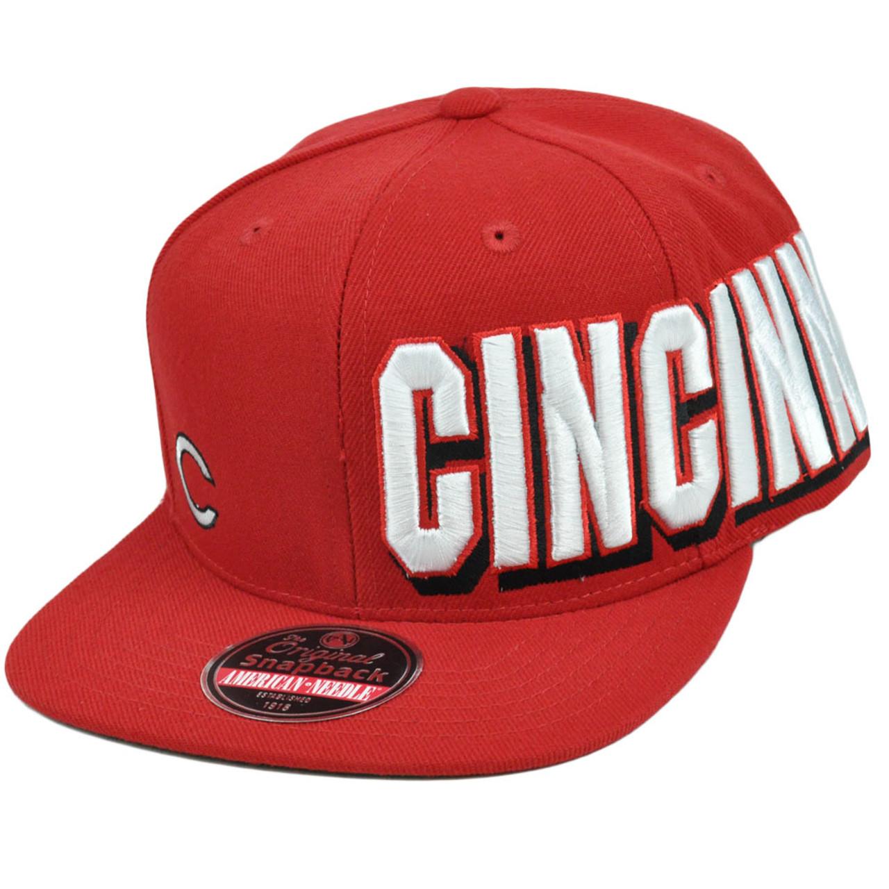 super popular 817ee 8407a MLB Cincinnati Reds Original Snapback Flat American Needle Blindside Hat Cap  - Cap Store Online.com