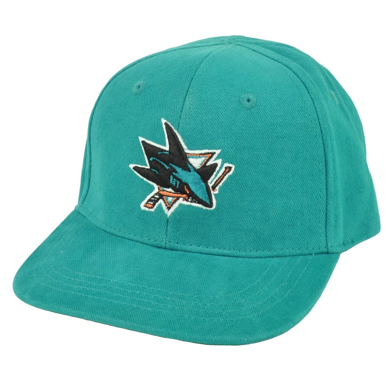 online retailer fc702 ac924 NHL San Jose Sharks Fan Favorite Infant Adjustable Hat Cap Turquoise Robbie