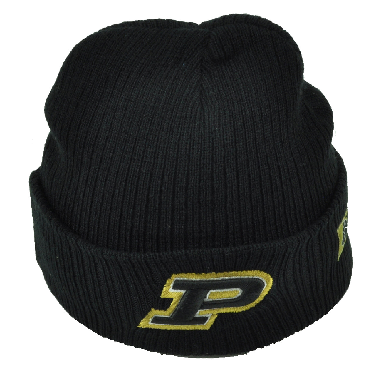 296b12ce4 NCAA Purdue Boilermakers Black Cuffed Knit Beanie Basketball Toque Acrylic
