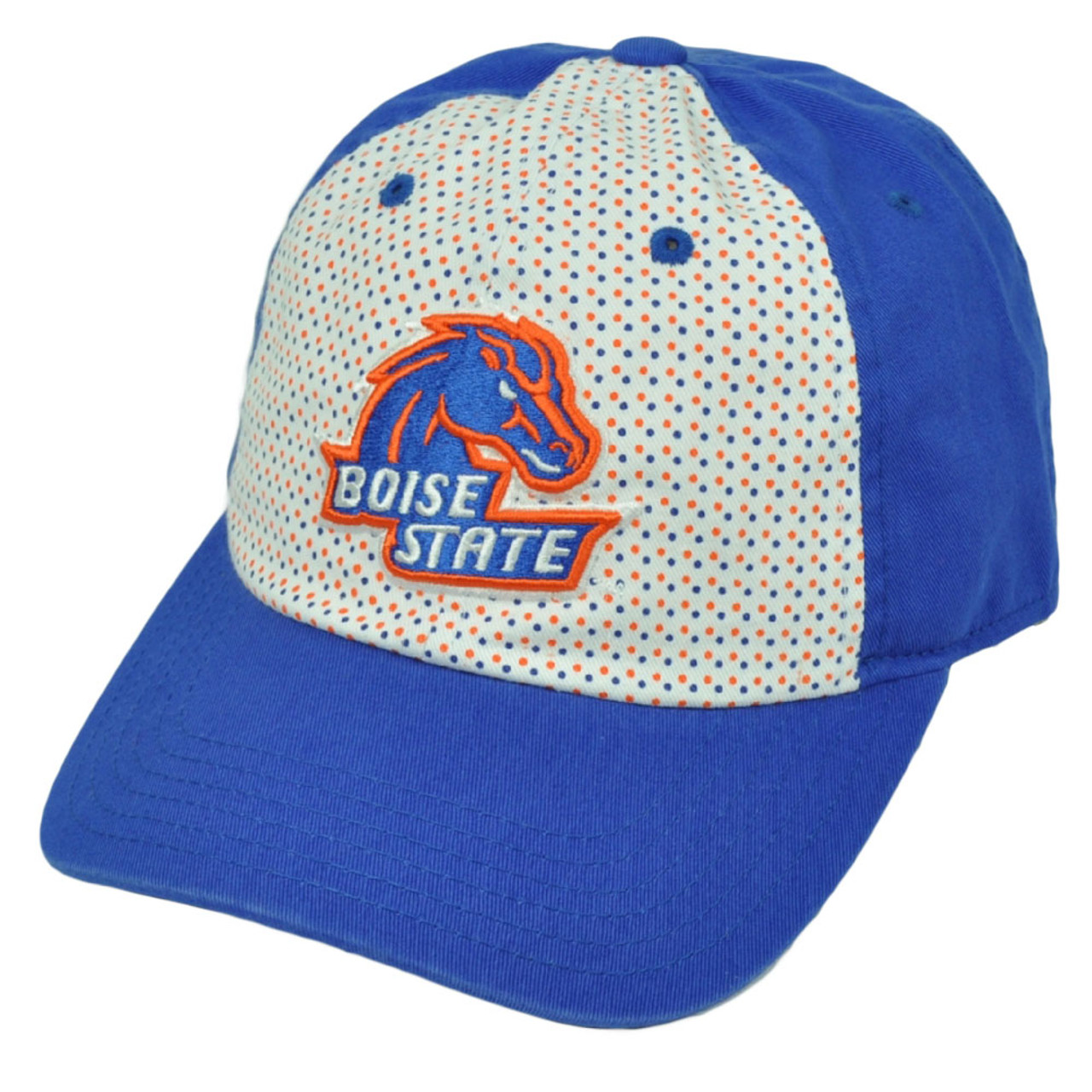 dfd179677 NCAA Boise State Broncos Polka Dots Blue White Relaxed Hat Cap Sun Buckle  Ladies