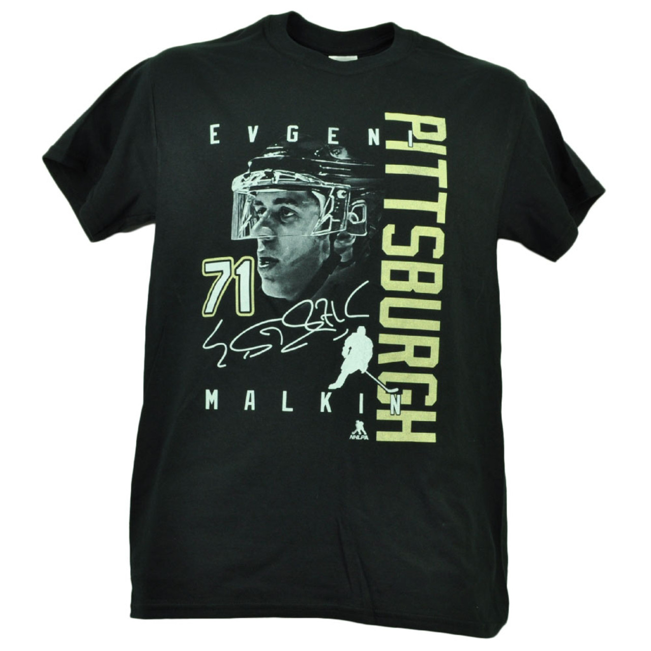 best website 52d5c 507d4 Pittsburgh Penguins Evgeni Malkin 71 Player Signature Tshirt Tee Mens Black