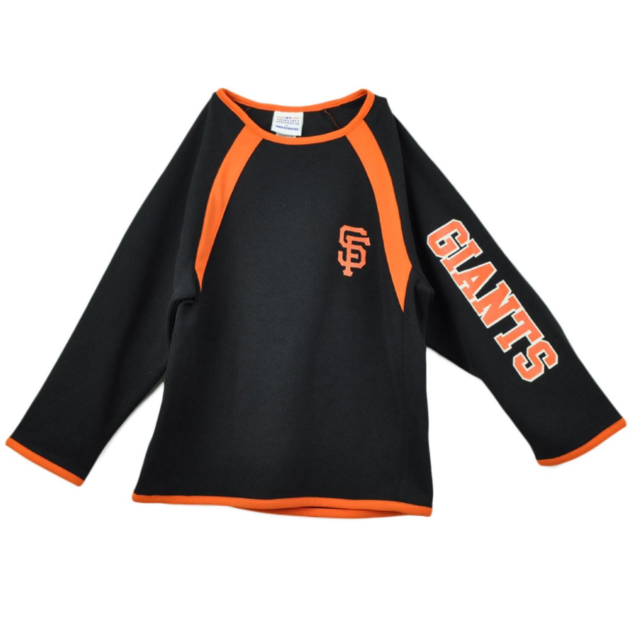 super popular b6e45 c85d2 MLB San Francisco Giants Long Sleeve Tshirt Youth Orange Black Crew Neck