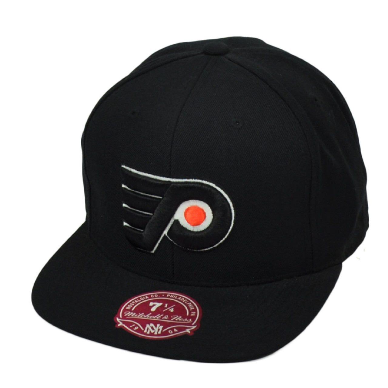 newest 0f9eb d624b NHL Mitchell Ness Philadelphia Flyers Vintage Hockey Hat Cap Black Fitted  Size
