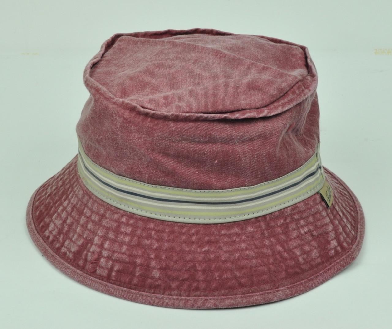 89498c98b Levis Strauss Signature Vintage Distressed Sun Bucket Hat Large XLarge  Burgundy