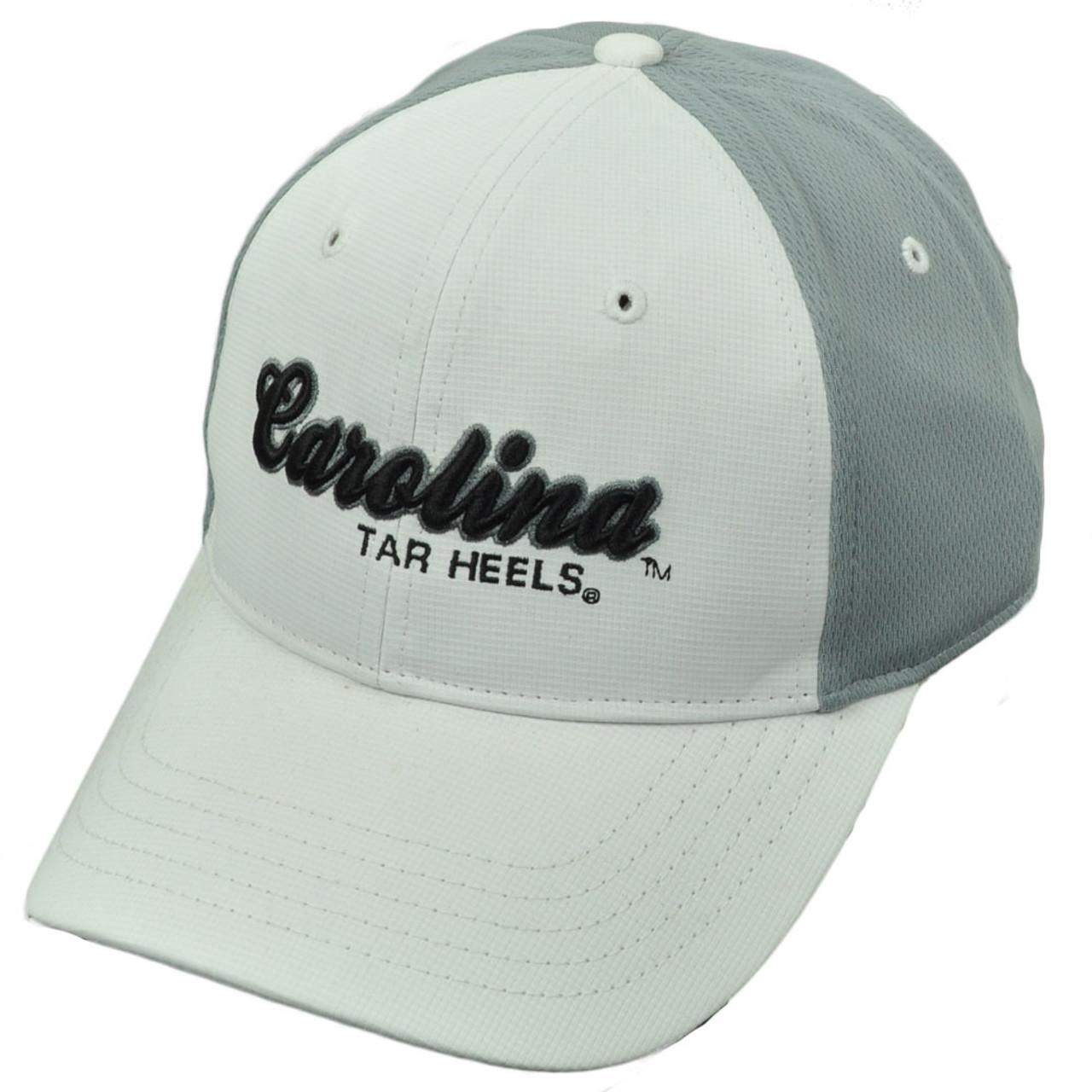 73c5848b88 NCAA North Carolina Tar Heels Two Tone White Gray Script Logo Hat Cap  Adjustable