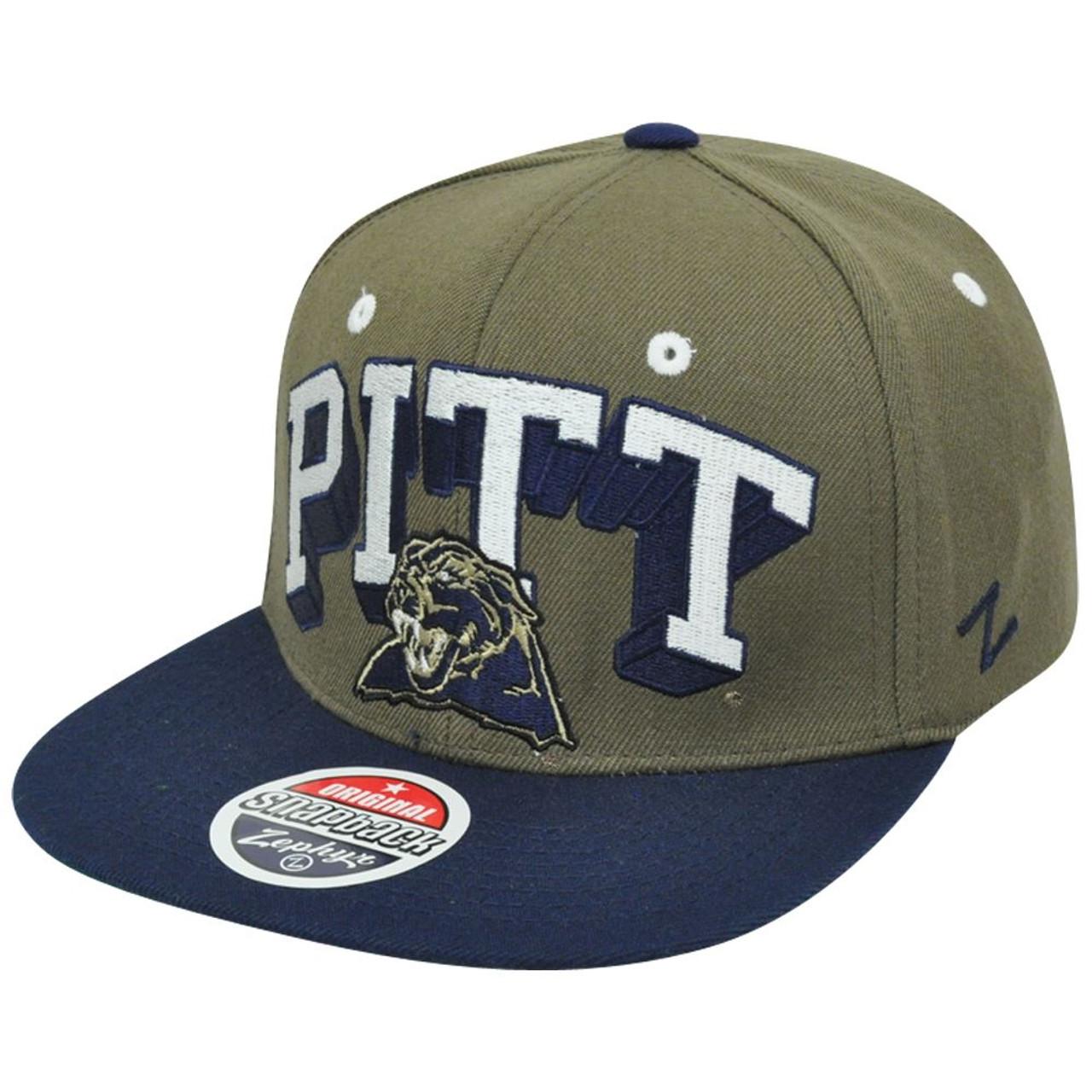 827edacbe NCAA Pittsburgh Panthers Pitt Zephyr Block Buster Snapback Flat Bill Hat Cap