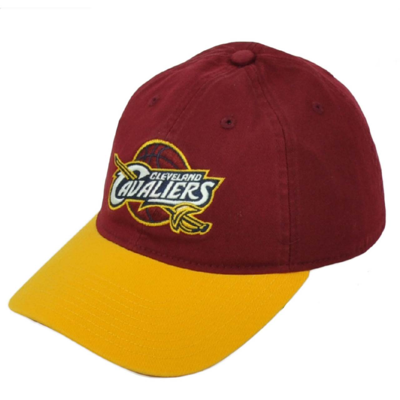 half off 6778d 8aa18 NBA Cleveland Cavalier Slouch Adjustable Hat Cap Snapback Burgundy Yellow  Cavs - Cap Store Online.com