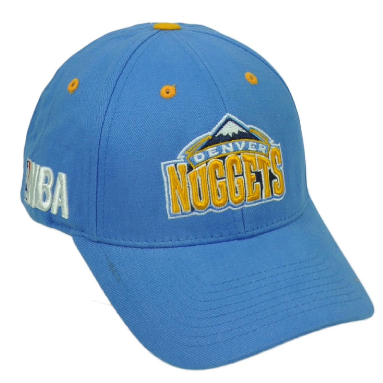 new concept 26597 53c93 Denver Nuggets Baby Blue Basketball Hat Cap Curved Bill Adjustable NBA  Yellow