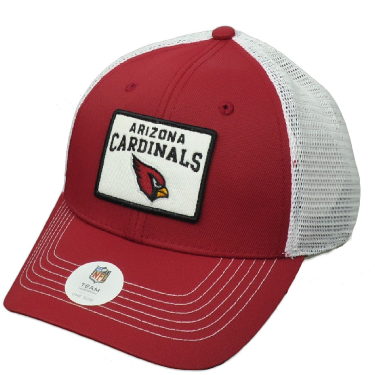 brand new e1213 7e7ae NFL Arizona Cardinals Burgundy White Mesh Snapback Hat Cap Trucker Curved  Bill