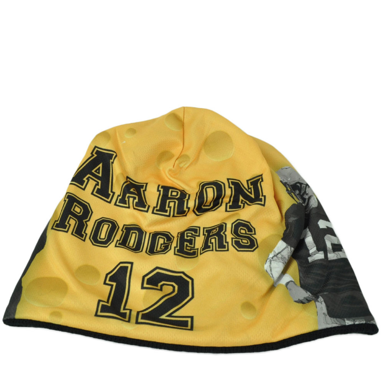 7b95523552dbb3 NFL Green Bay Packers Aaron Rodgers 12 Sublimated Player Yellow Knit Beanie  Hat - Cap Store Online.com
