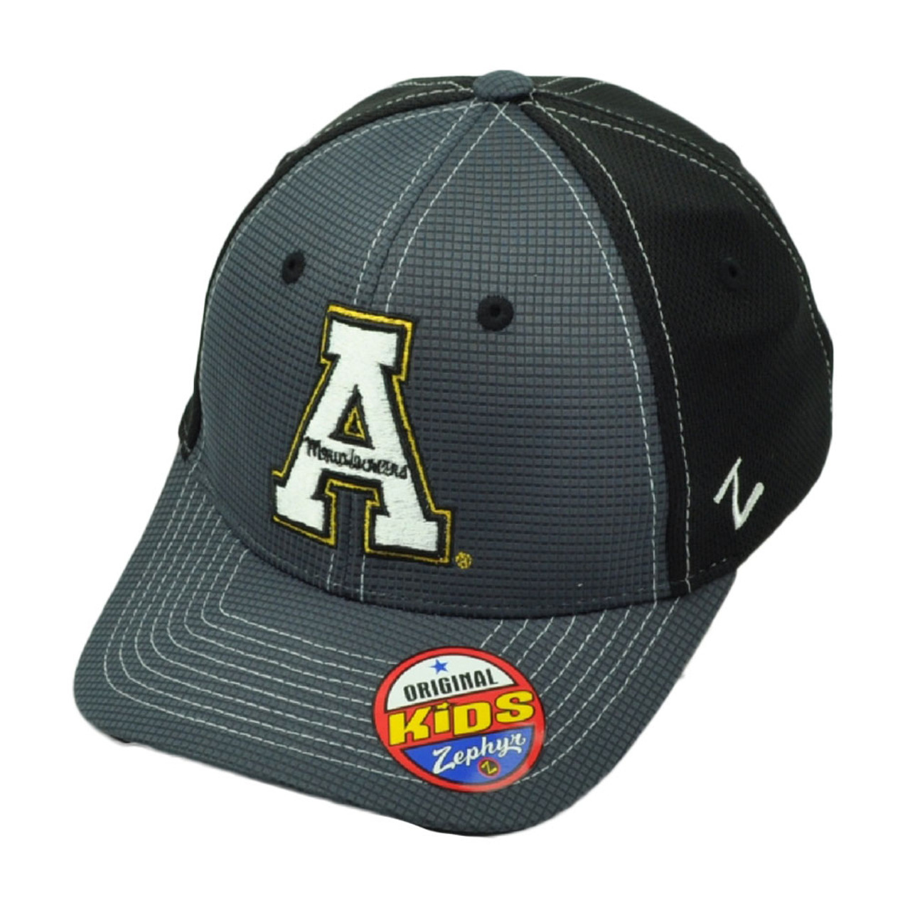 new styles a6409 adee5 NCAA Zephyr Appalachian State Mountaineers Flex Fit Youth Kids Jersey Mesh  Hat
