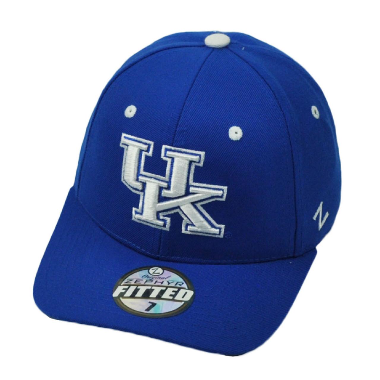 quality design 00389 1ef74 NCAA Original Zephyr Kentucky Wildcats Fitted Size Curved Bill Hat Cap Blue  - Cap Store Online.com