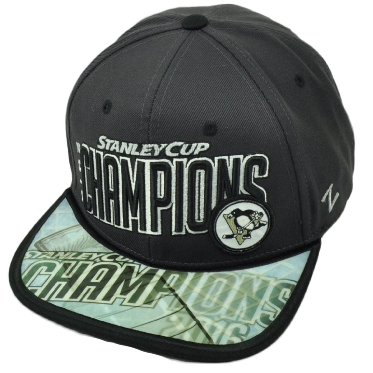quality design 9d96f b84c6 NHL Zephyr Stanley Cup 2016 Champions Pittsburgh Penguins Snapback Hat Cap  Gray - Cap Store Online.com