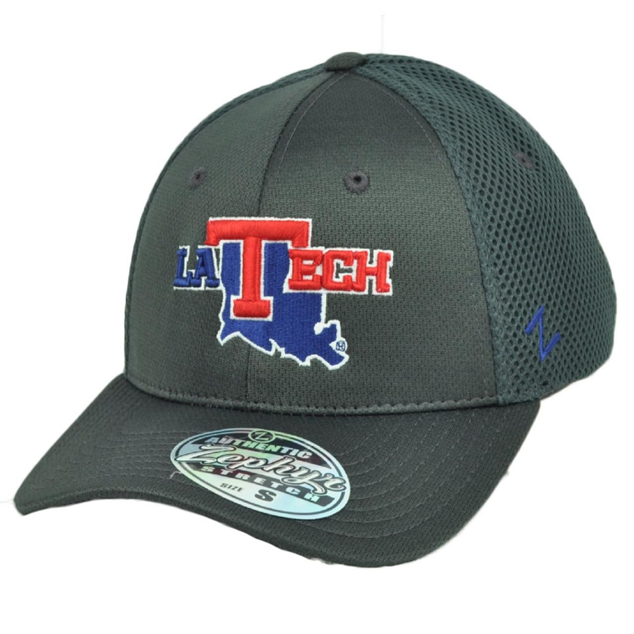 super popular 935ac 6810d NCAA Zephyr Louisiana Tech Bulldogs Flex Fit Medium Large Hat Cap Jersey  Mesh