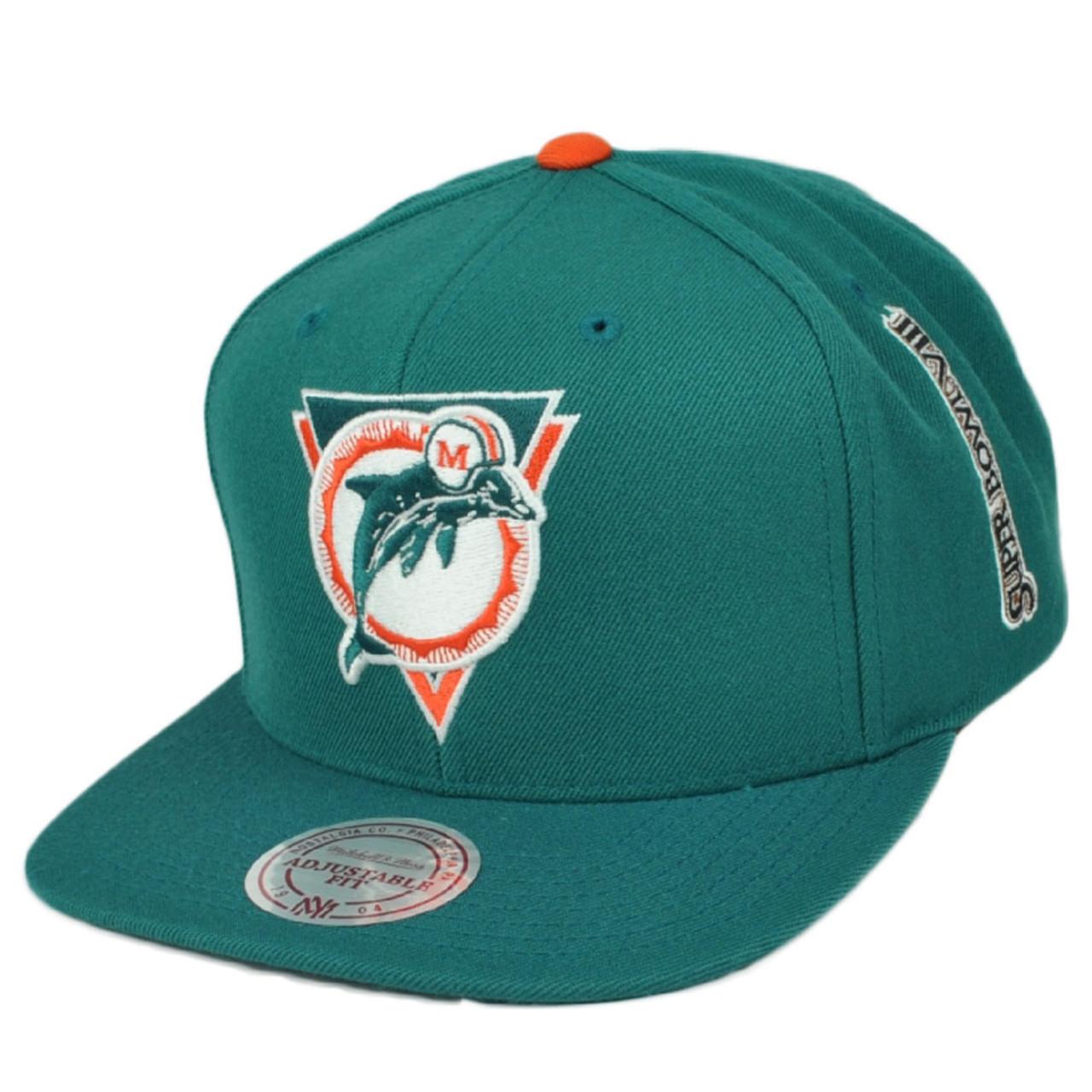 huge discount 60398 4a201 NFL Mitchell & Ness Miami Dolphins 749VZ Super Bowl VIII Snapback Flat Bill  Hat