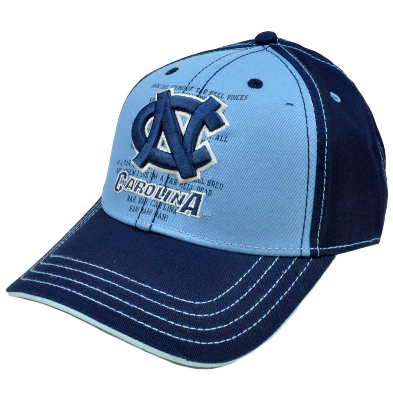 b0bf21411a NCAA Cap Hat Constructed North Carolina Tar Heels Fight Song Chino  Adjustable