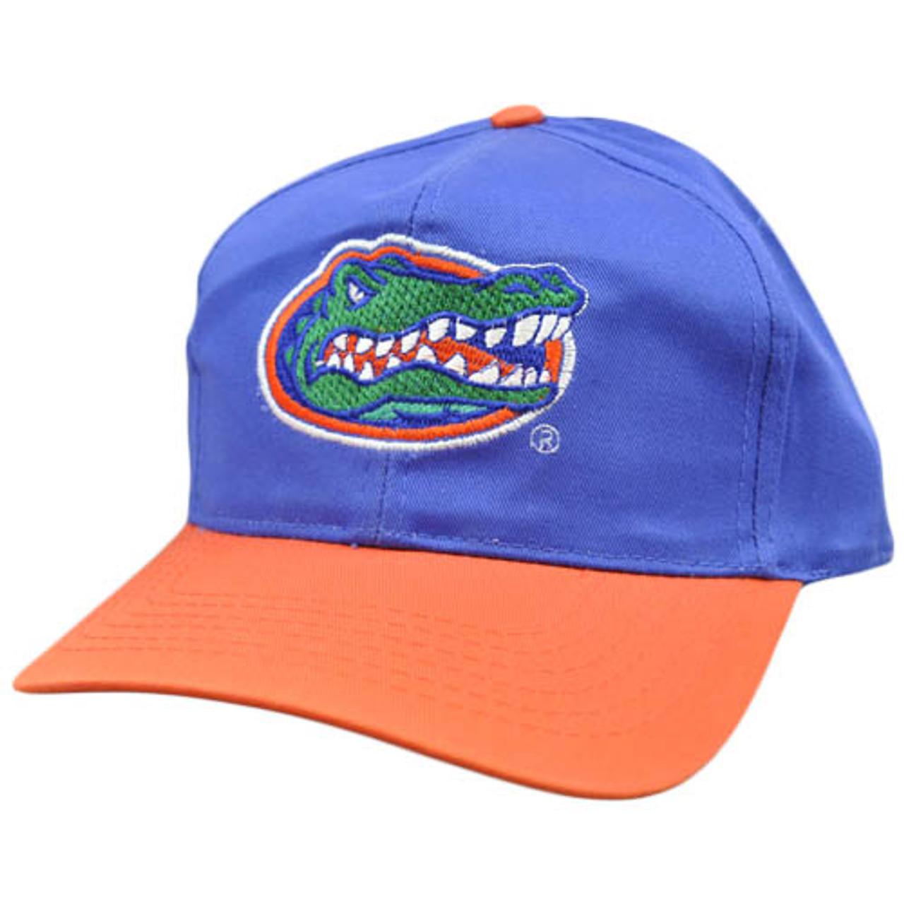 UNIVERSITY OF FLORIDA GATORS MASCOT TEXT LOGO SNAPBACK HAT CAP ADJUSTABLE RETRO