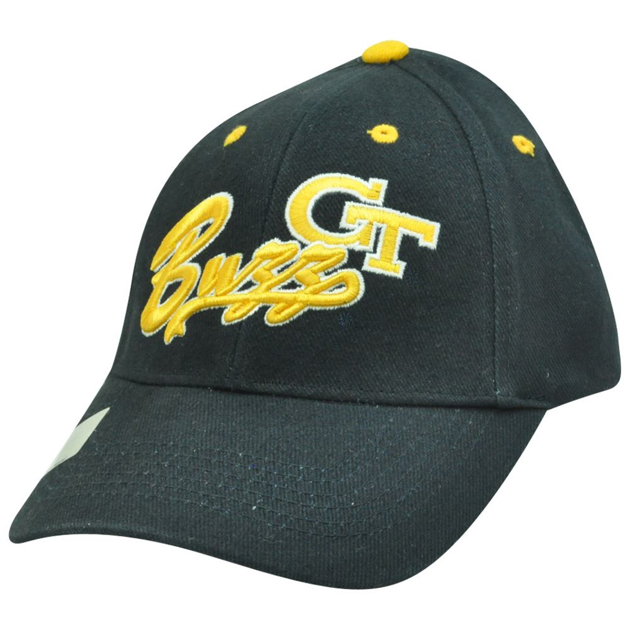 sneakers for cheap 8ce85 67b81 NCAA Georgia Tech Yellow Jackets Buzz Construct Adjustable Velcro Script Hat  Cap - Cap Store Online.com