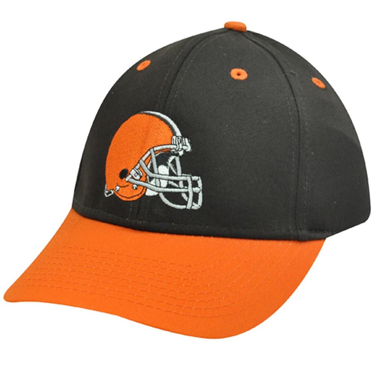 a12e3efd NFL Cleveland Browns Brown Orange Helmet Logo Cotton OSFA Mens Adult Hat Cap