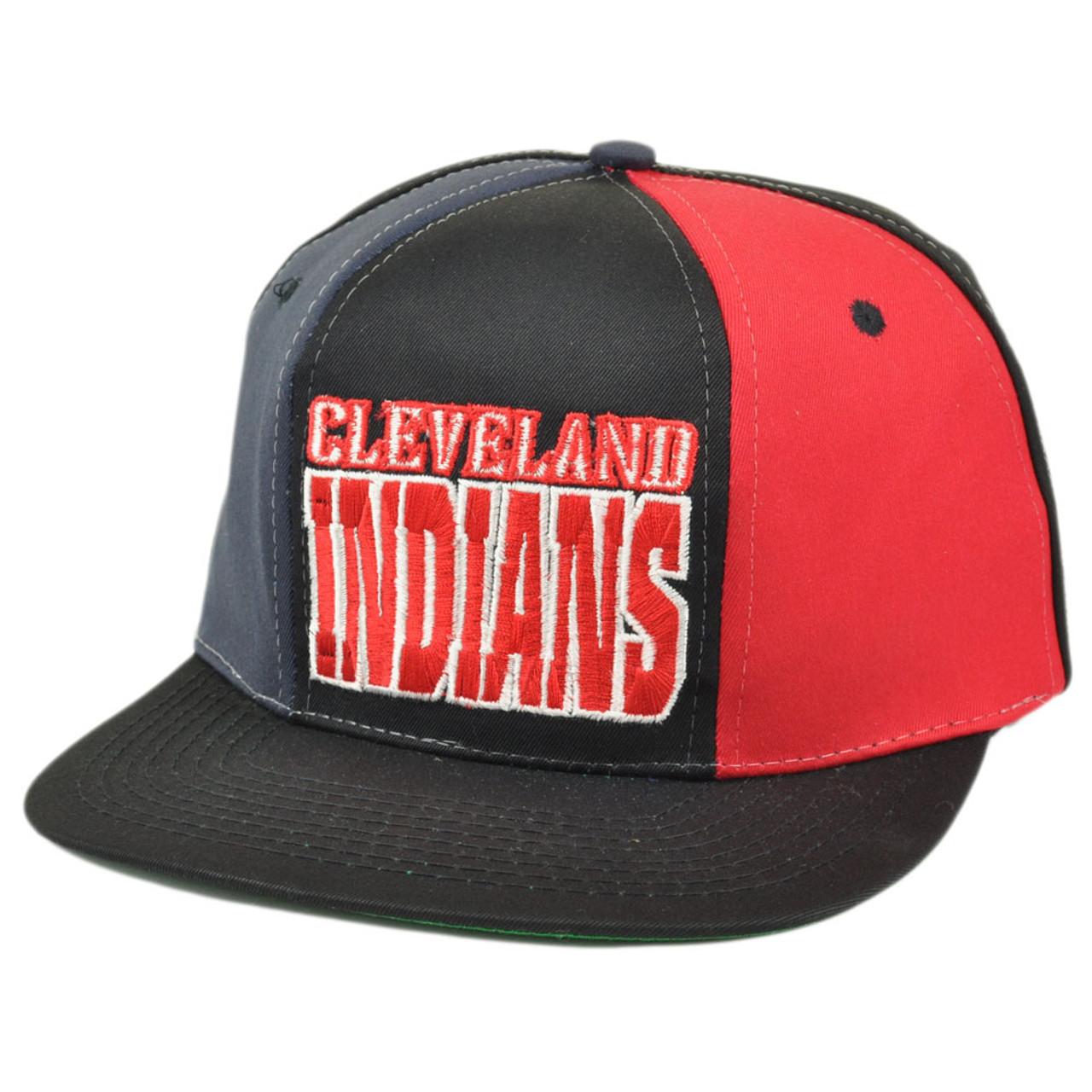 f607ab0e30859 MLB Cleveland Indians Snapback Flat Bill Old School Vintage Hat Cap Dead  Stock - Cap Store Online.com