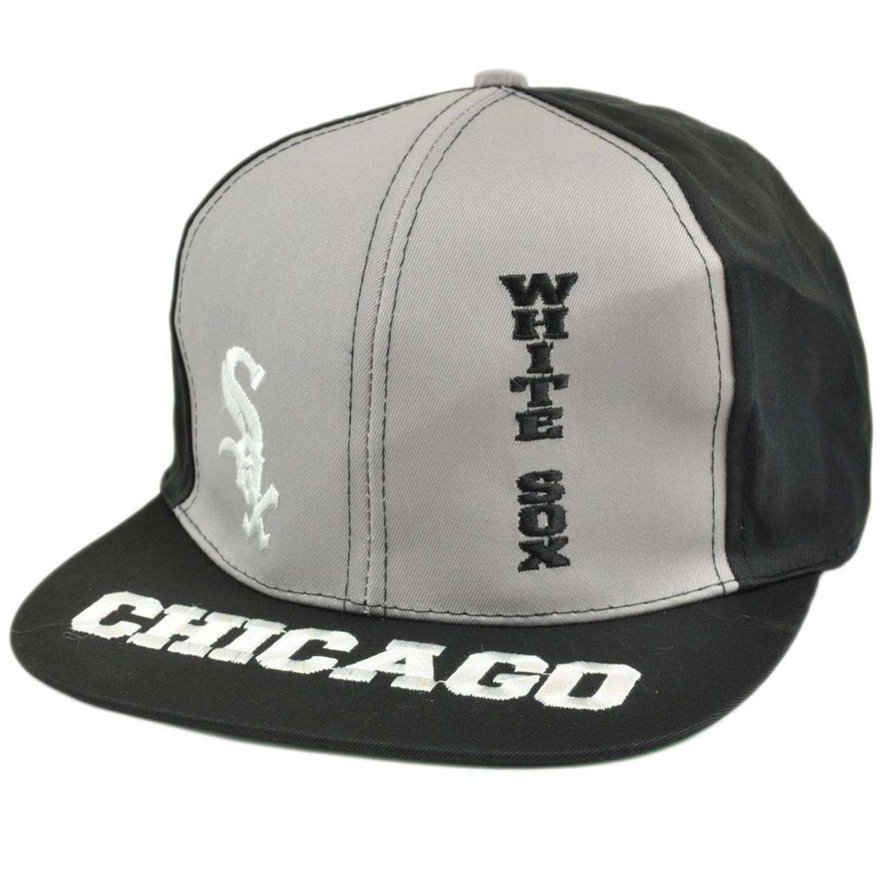 f94fe833dfd303 MLB Chicago White Sox Vintage Old School Snapback Flat Bill Hat Cap Drew  Pearson - Cap Store Online.com