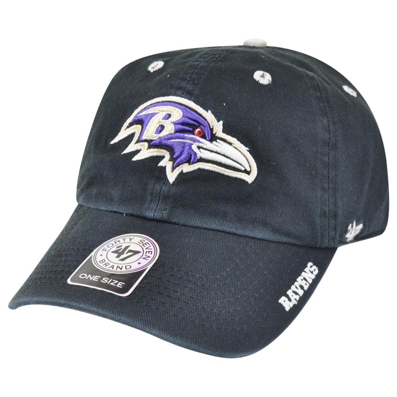12525cf0fc8add '47 Brand NFL Baltimore Ravens Ice Garment Wash Adjustable Snap Buckle Hat  Cap - Cap Store Online.com
