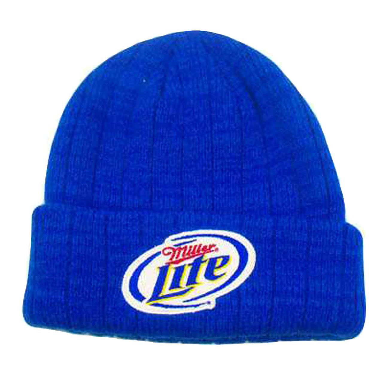 8d1a7f97ba718 MILLER LITE CERVEZA BEER BLUE BEANIE SKULLY KNIT HAT - Cap Store Online.com