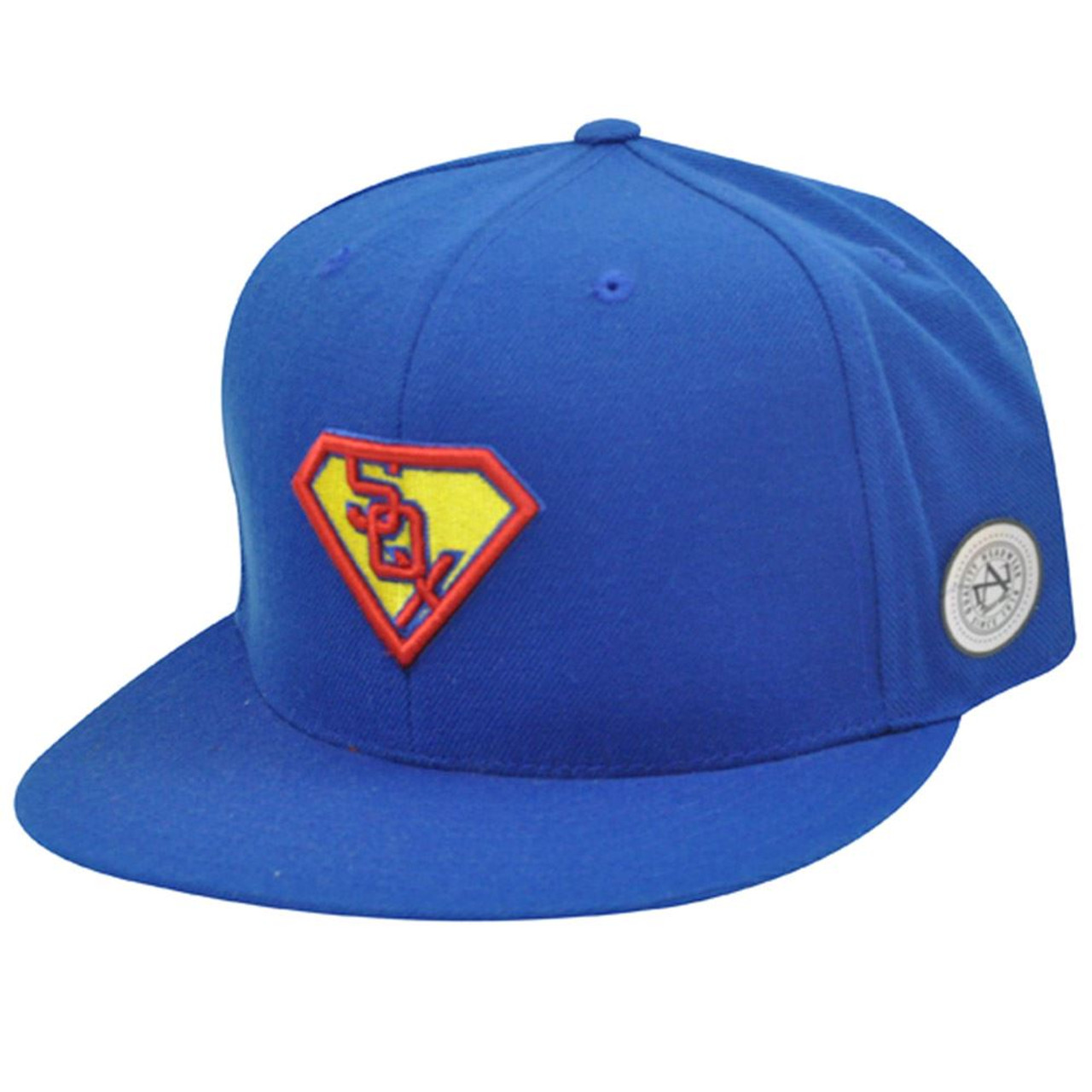 c83ab9f4a32f59 MLB CHICAGO WHITE SOX FITTED FLAT 7 1/2 SUPERMAN HAT - Cap Store Online.com