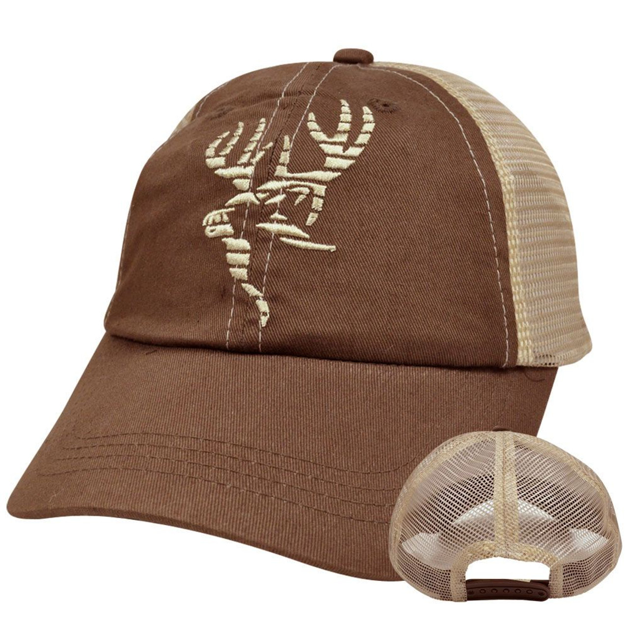 3f3edb5dc Primos Hunting Calls Deer Fishing Relaxed Slouched Fit Mesh Snapback Hat Cap