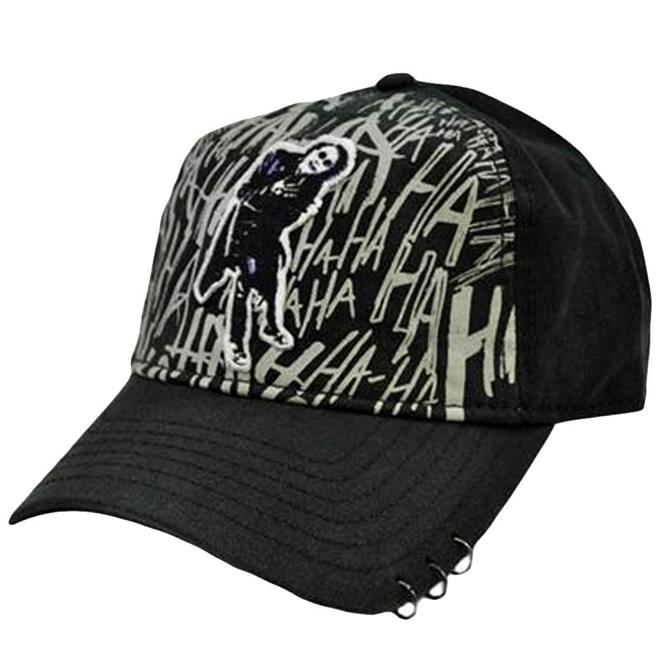 Batman DC Comics The Dark Knight Joker Heath Ledger Black Gray Velcro Hat  Cap - Cap Store Online.com 0c5ac9ca1141