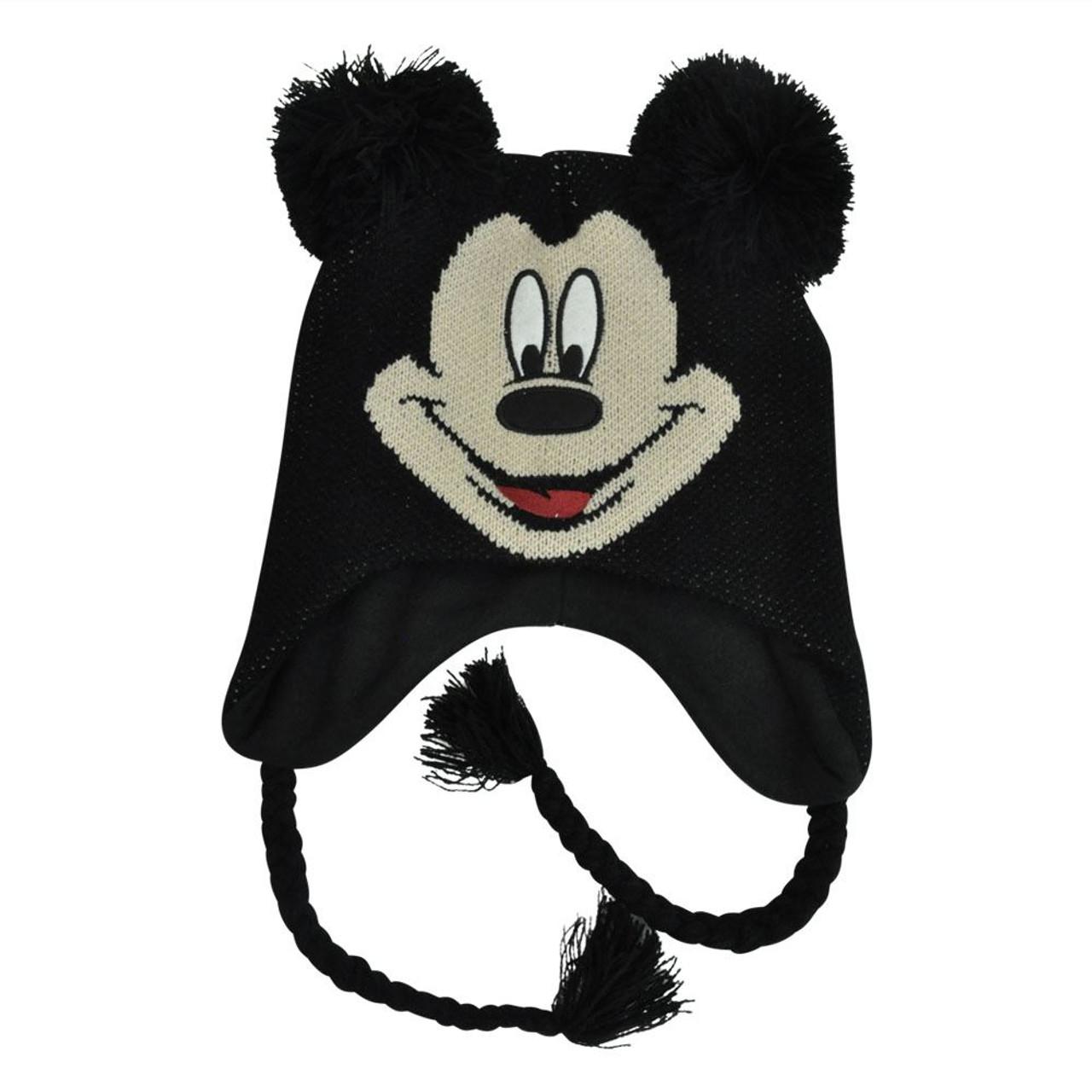 1a59560a8d9 Disney Mickey Mouse Youth Pom Pom Laplander Ear Flap Fleece Beanie Peruvian  Knit - Cap Store Online.com