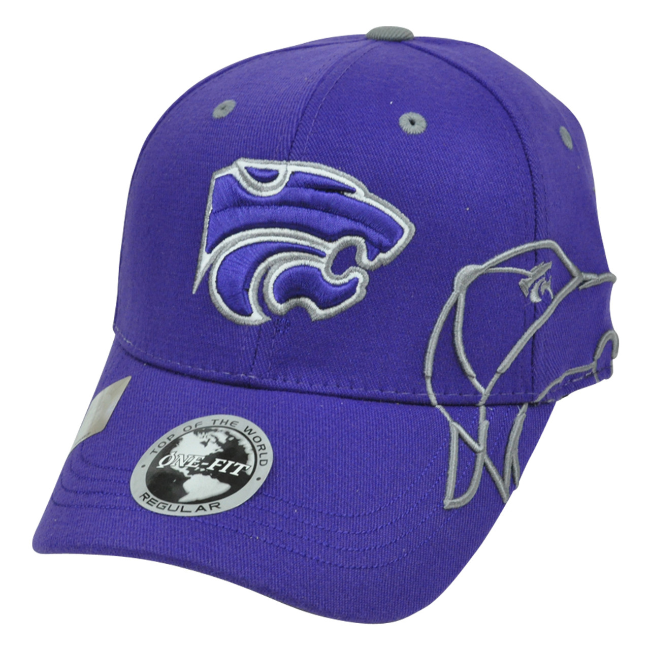 quality design f2f9c cb6a5 NCAA Top of The World Flex Fit One Size Hat Cap Kansas State Wildcats  Construct - Cap Store Online.com