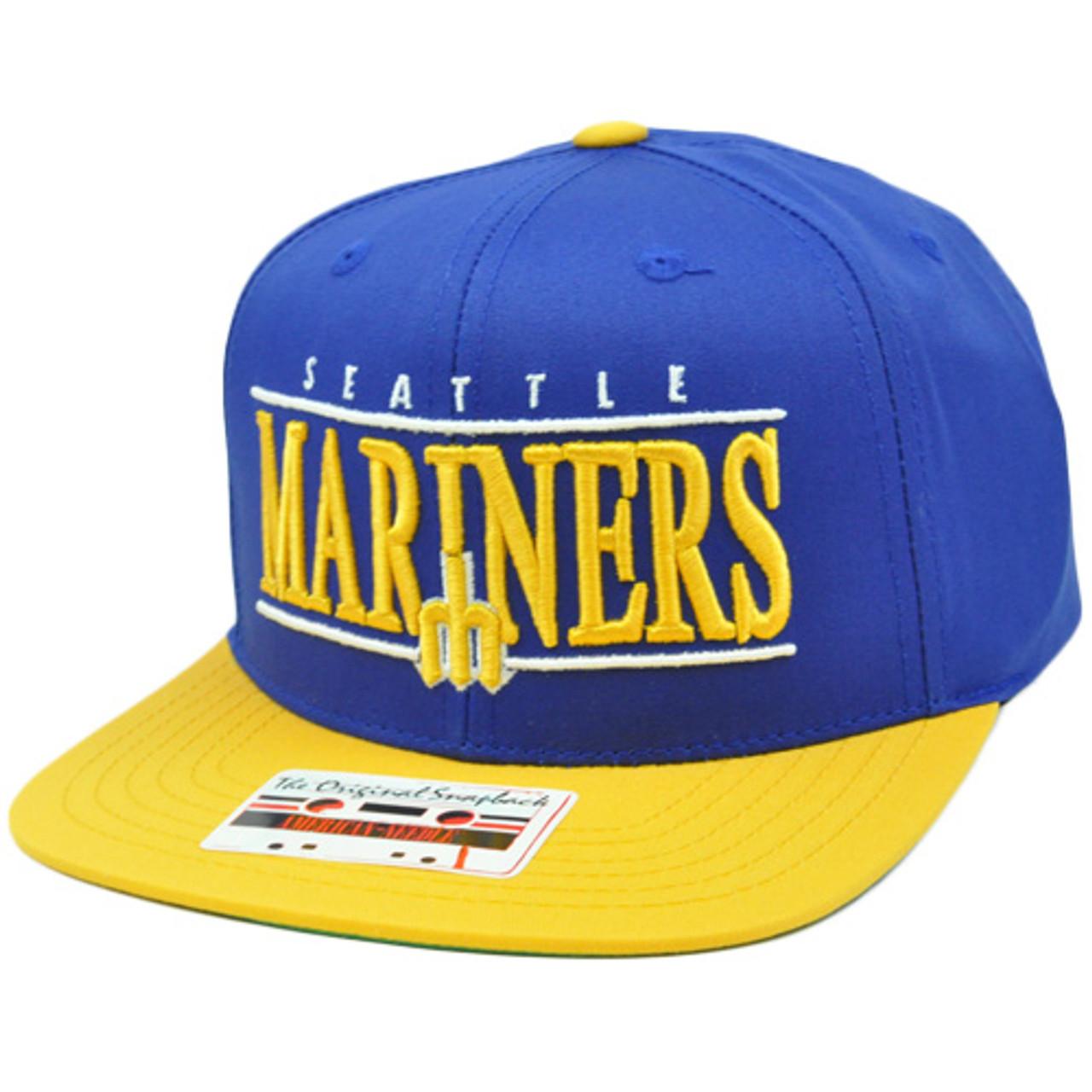 0f46d23af MLB American Needle Nineties Twill Cap Hat Snapback Flat Bill Seattle  Mariners