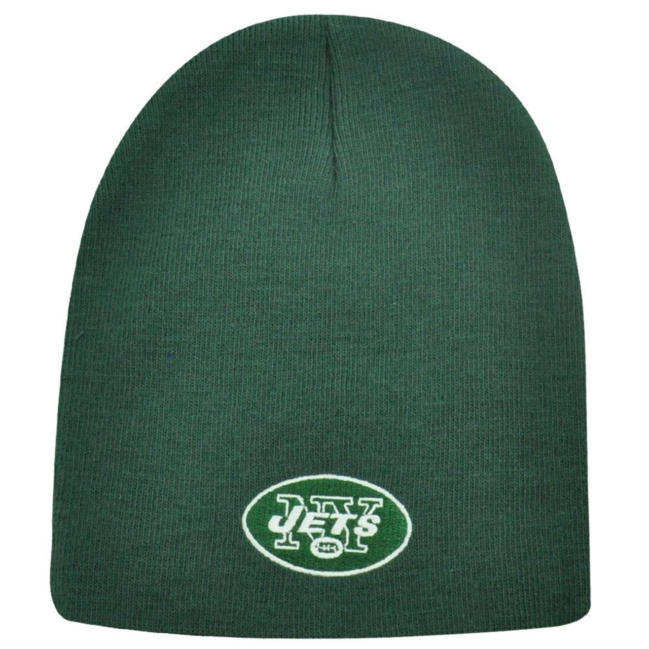 2d312aa6f82 NFL CUFFLESS BEANIE KNIT HAT NEW YORK JETS GREEN NEW - Cap Store Online.com