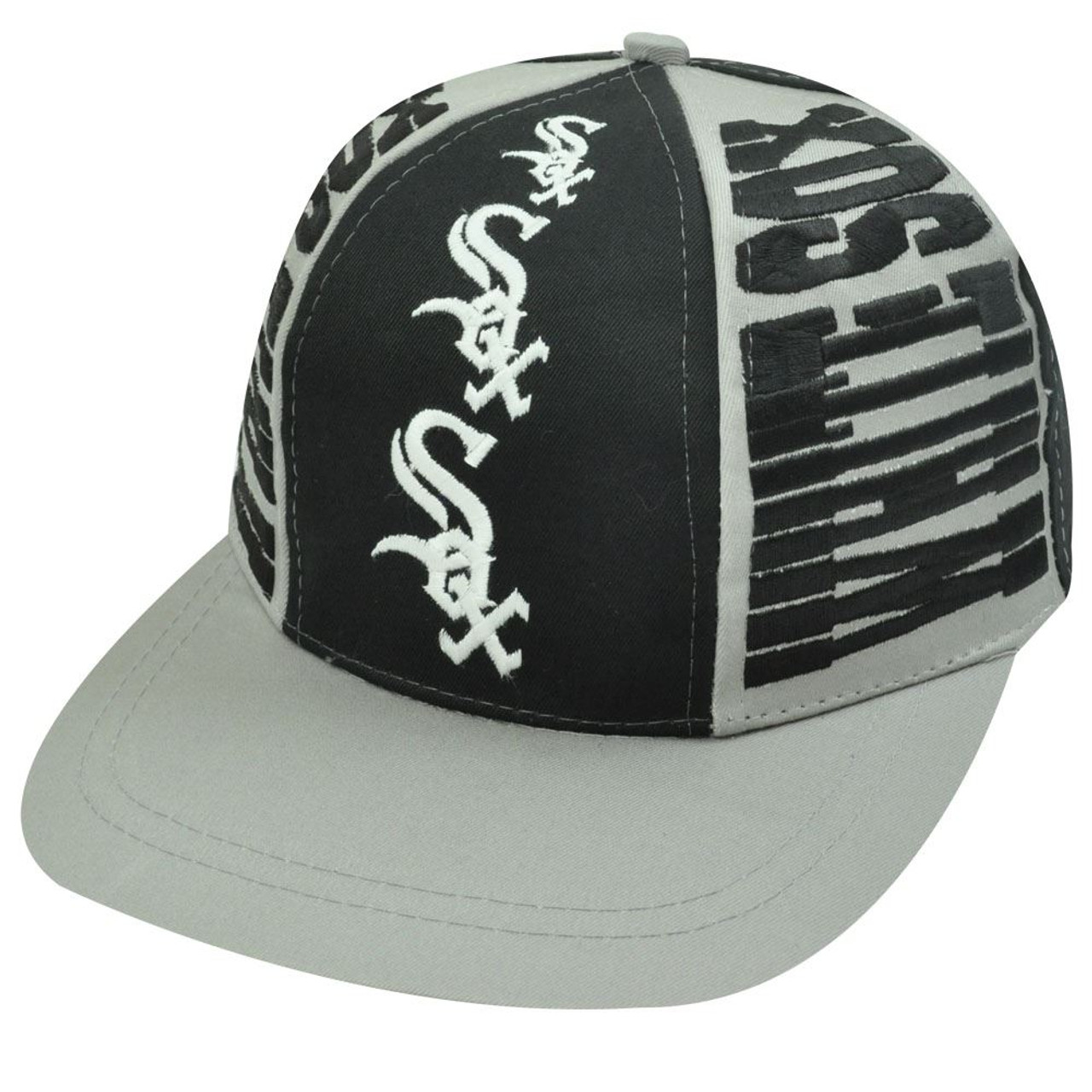 d438a735 MLB CHICAGO WHITE SOX OLD SCHOOL SNAPBACK FLAT BILL HAT