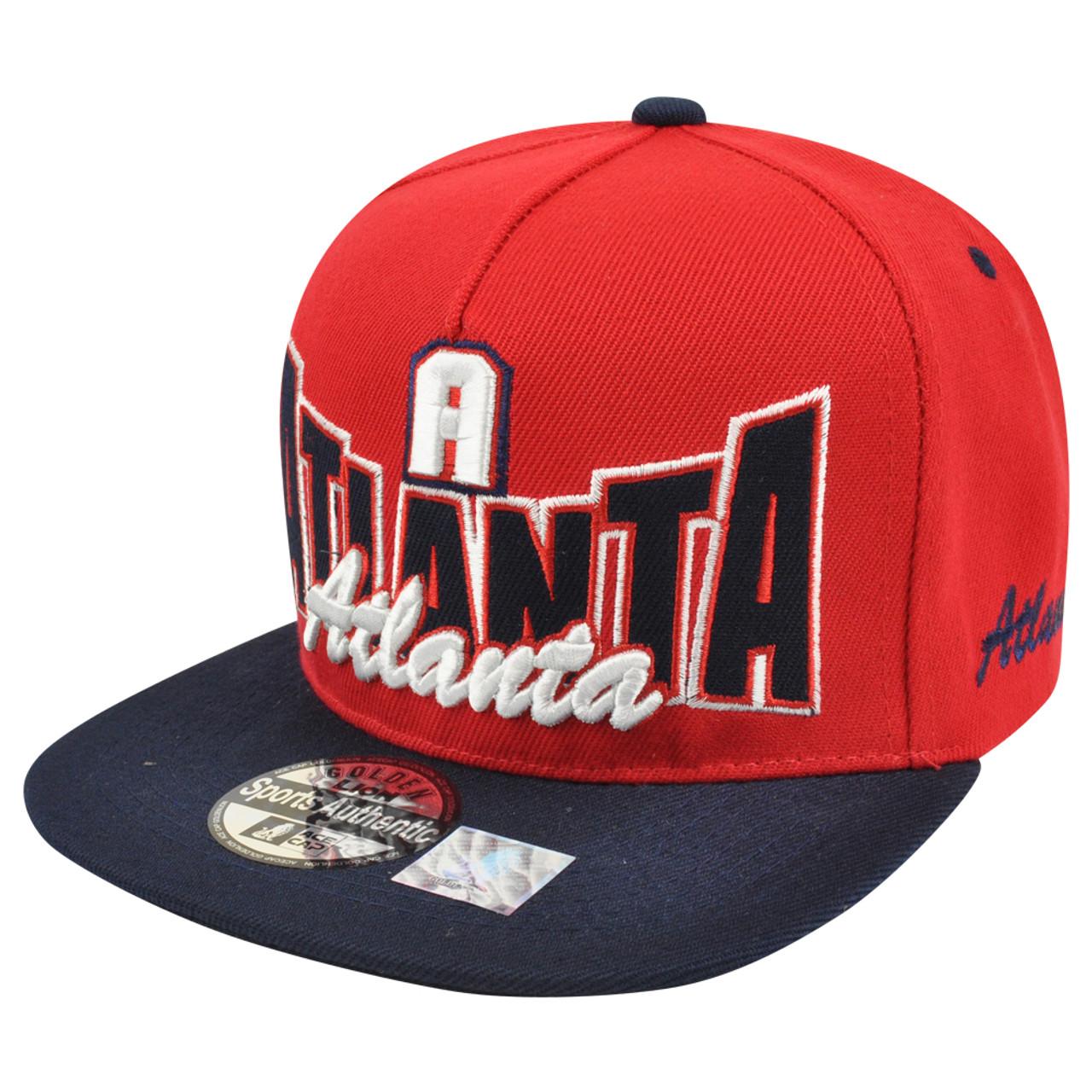 Atlanta DownTown Style Two Tone Snapback Hat Cap