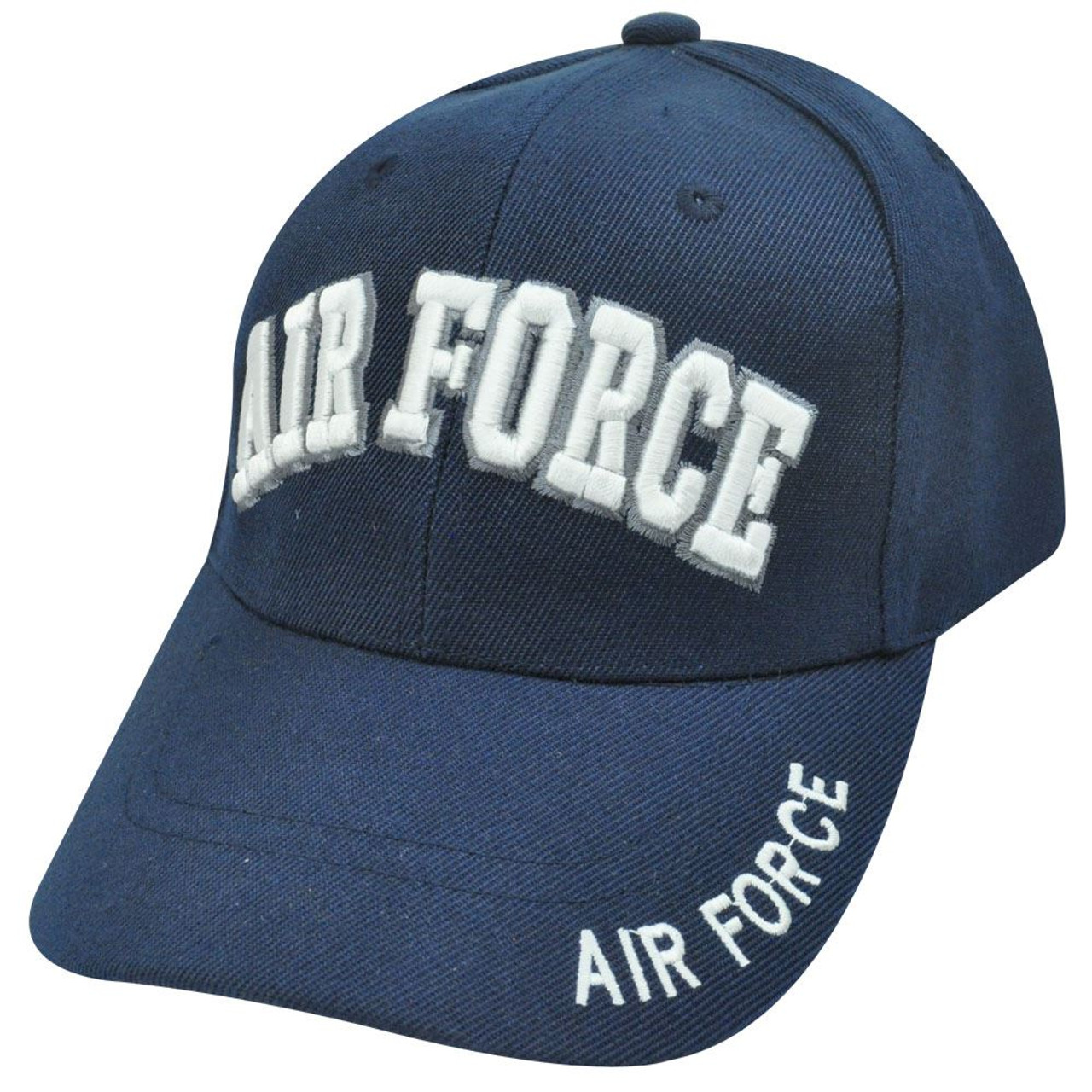 56d5e28d4 US USA AIR FORCE NAVY BLUE VELCRO ADJUSTABLE HAT CAP