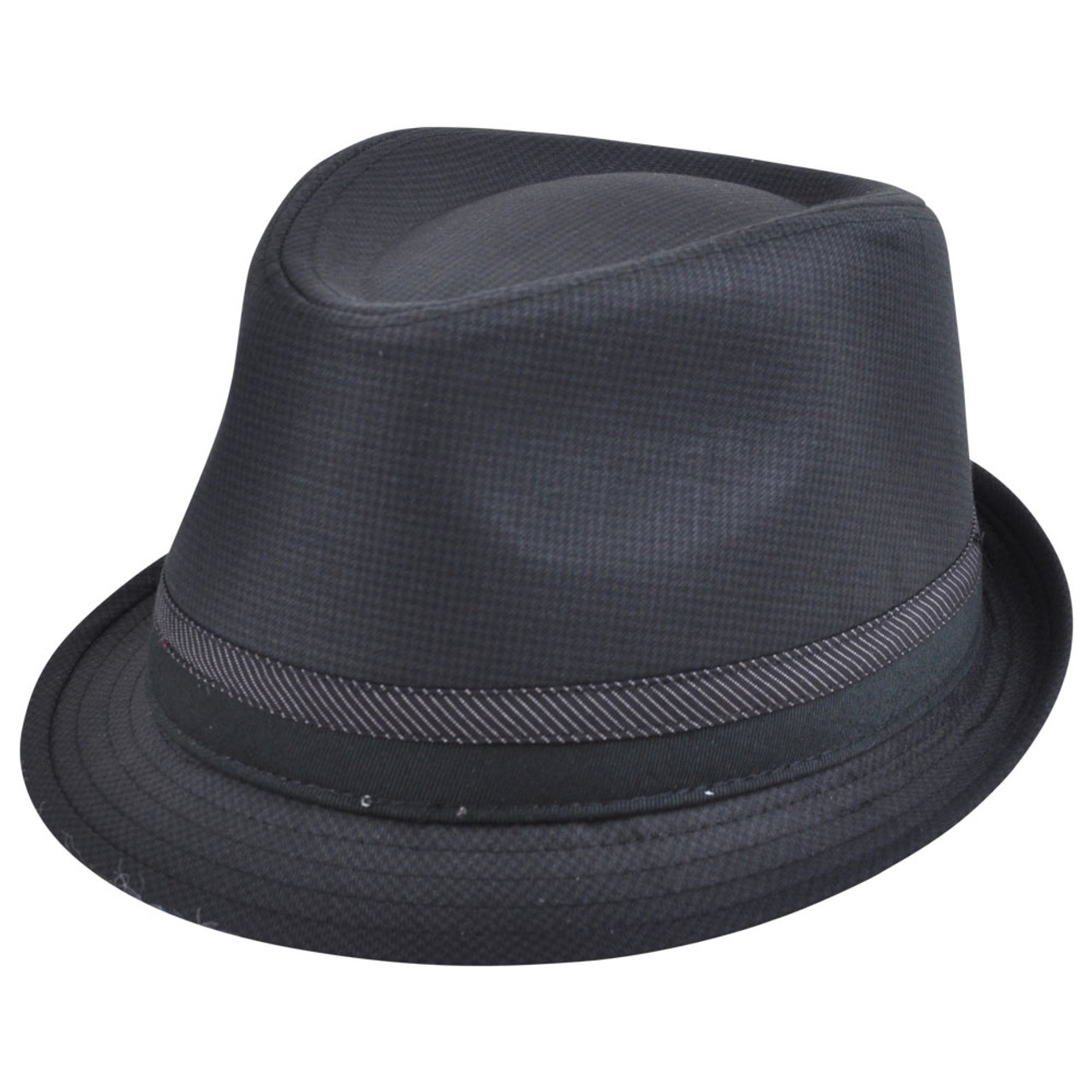 ab8520ed92024 Explicit Fedora Gangster Diamond Top Small Medium Pimp Hat Trilby Patterned  Blk - Cap Store Online.com