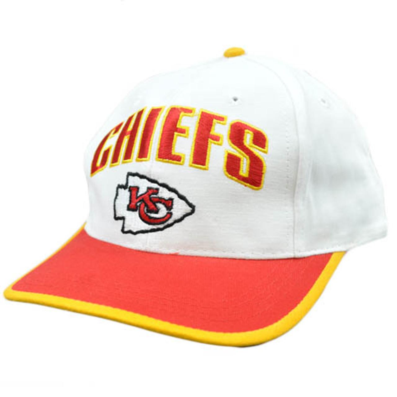 2e046a65411f9c NFL Kansas City Chiefs White Red Yellow Vintage Retro Flat Bill Snapback  Hat Cap - Cap Store Online.com
