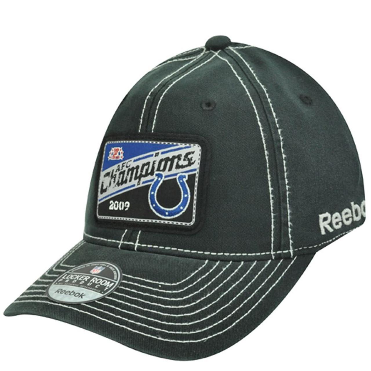 515da516ee0 COLTS AFC CHAMPIONS LOCKER ROOM FLEX FIT HAT CAP NEW - Cap Store Online.com