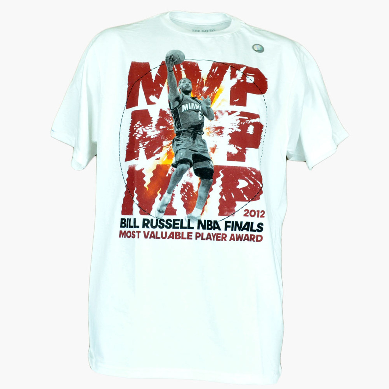 NBA Miami Heat Adidas Lebron James Most Valuable Player Award MVP Mens Shirt