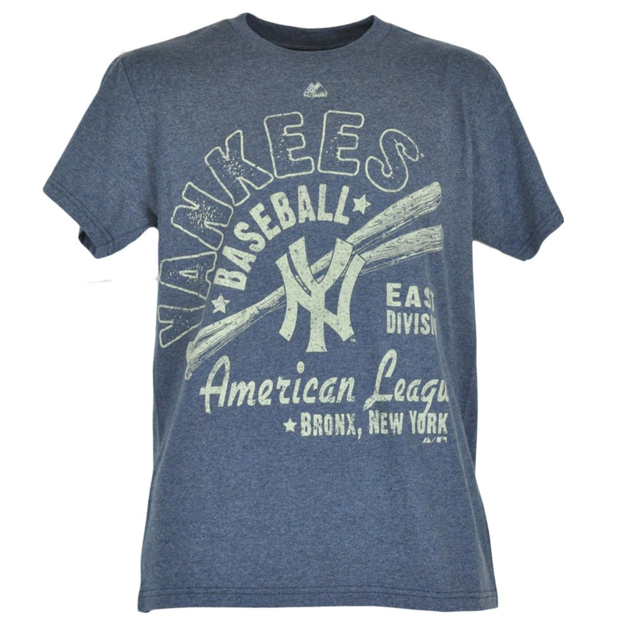 5c7c49e24b6 MLB Majestic New York Yankees Triblend Distressed Tshirt Mens Hot Stove  League - Cap Store Online.com