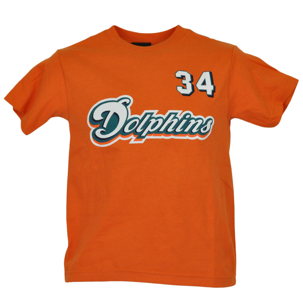 2a629709 NFL Reebok Miami Dolphins Ricky Williams 34 Youth Kids Tshirt Shirt  Licensed Tee