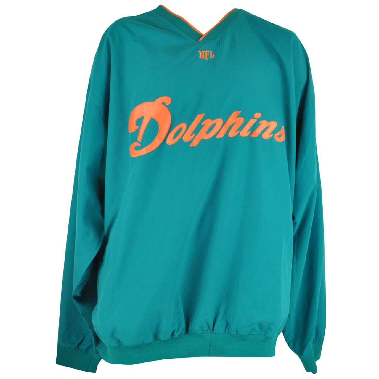 wholesale dealer 1dbea cd948 NFL Miami Dolphins Fins Micro Vneck Jacket Big & Tall Pullover Mens DM5107