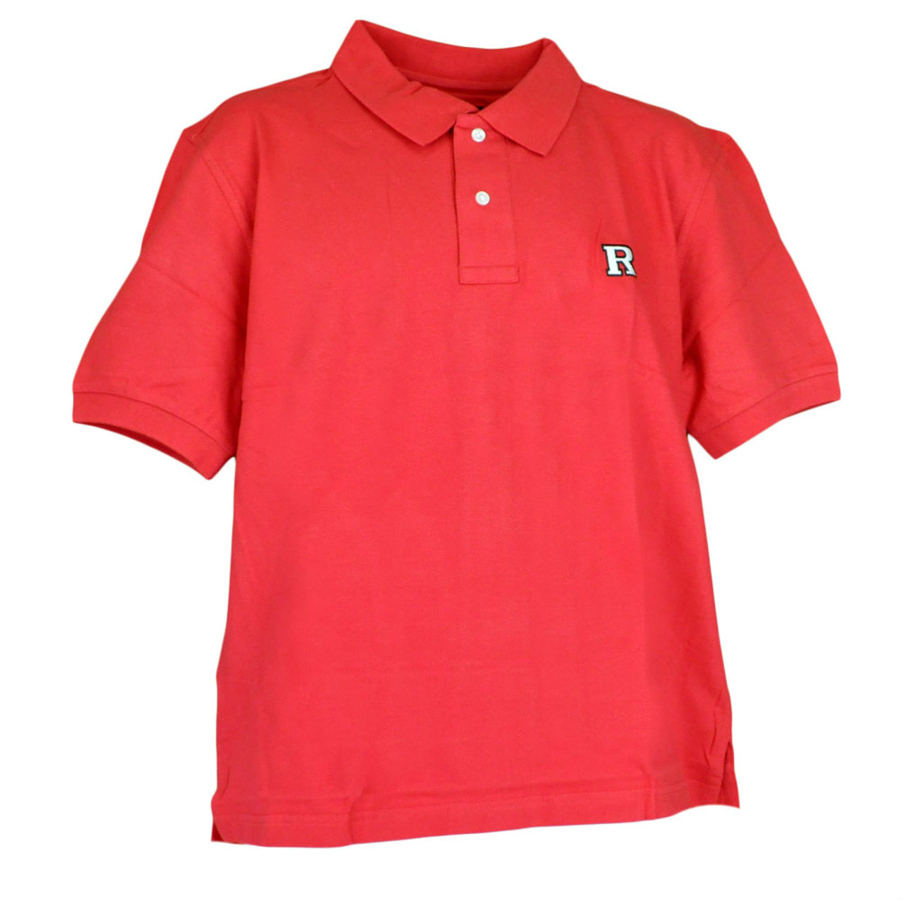 low cost 3f4a7 bfe48 NCAA Rutgers Scarlet Knights Logo Pique Polo Red Collar Dress Button Shirt  - Cap Store Online.com