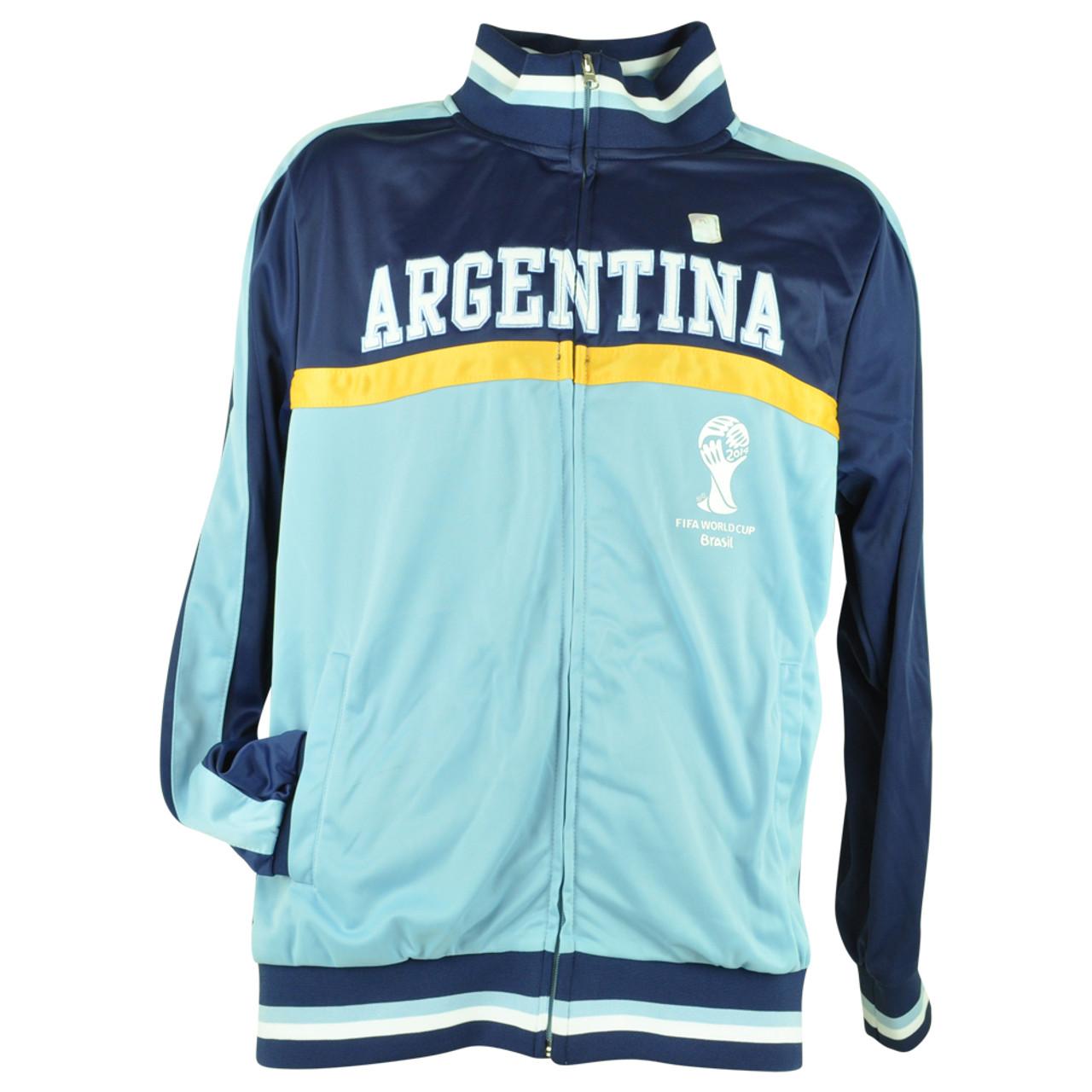 FIFA World Cup 2014 Argentina Track Jacket Zip Up Sweater Soccer Futbol
